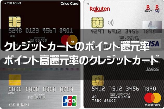 クレジットカードのポイント還元率