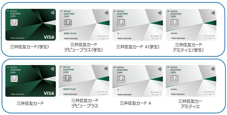 選びにくい三井住友カード4種類
