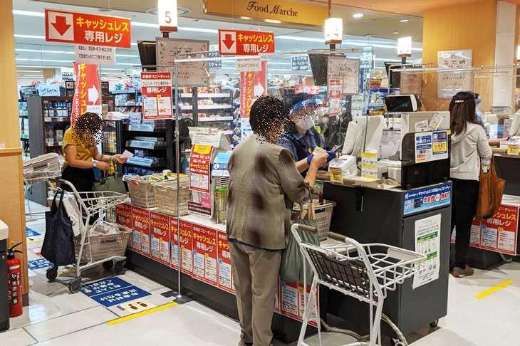 イトーヨーカドーのキャッシュレス専用レジ