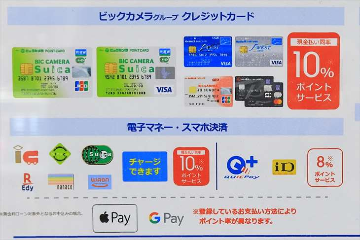 ビックカメラグループ クレジットカード