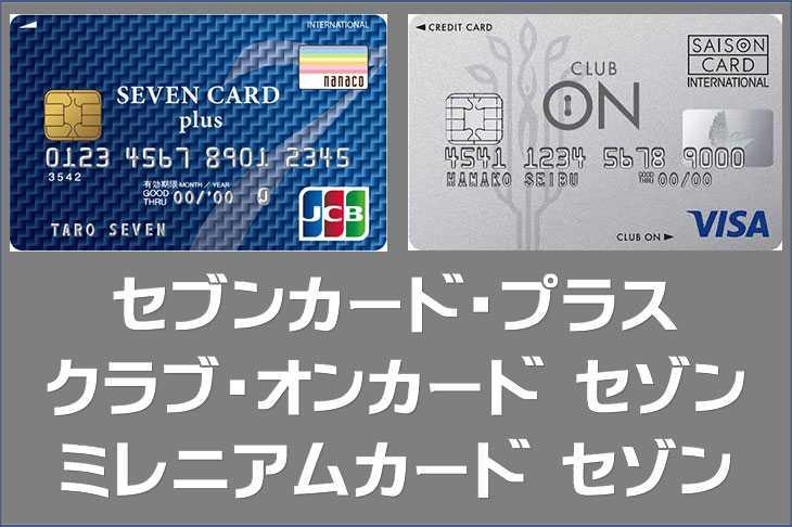 セブン&アイ系列のクレジットカード